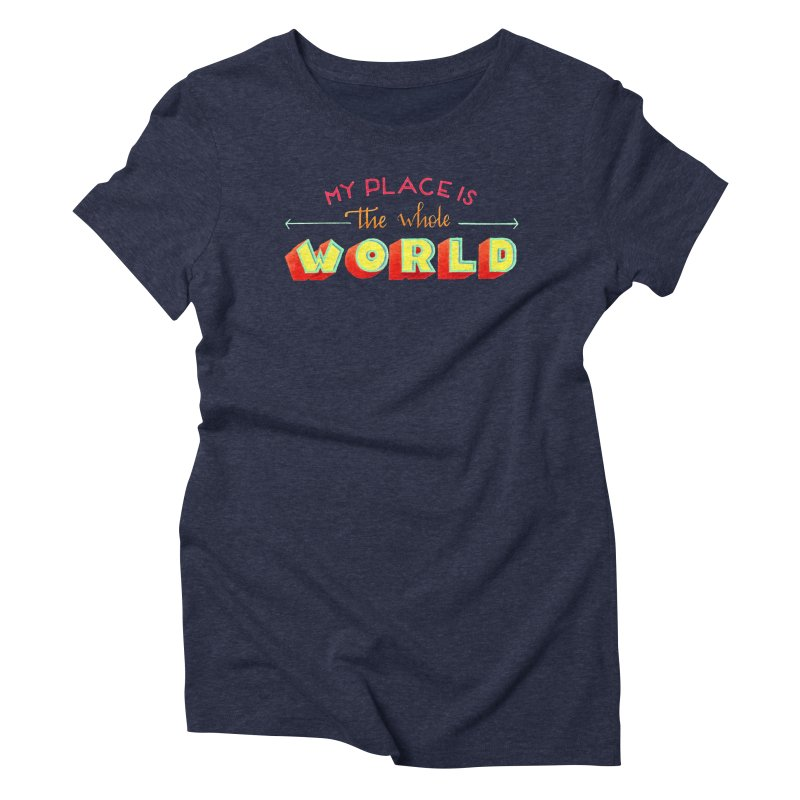 The whole world Women's Triblend T-Shirt by Andrea Garrido V - Shop