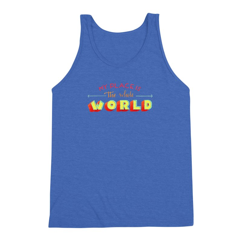 The whole world Men's Triblend Tank by Andrea Garrido V - Shop