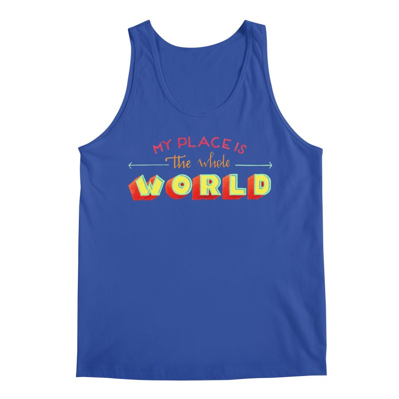 The whole world Men's Regular Tank by Andrea Garrido V - Shop