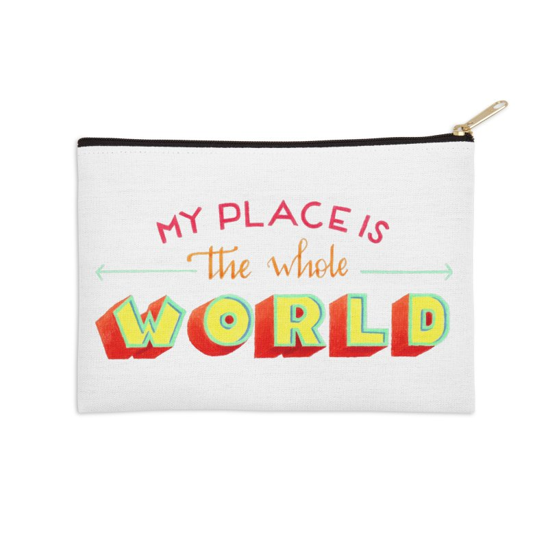 The whole world Accessories Zip Pouch by Andrea Garrido V - Shop