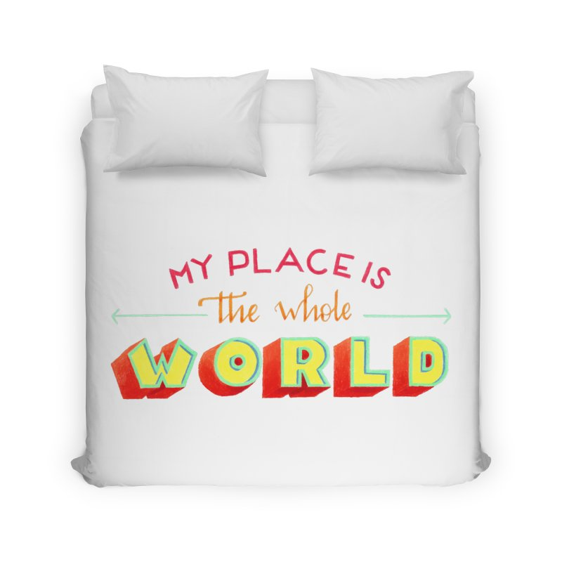 The whole world Home Duvet by Andrea Garrido V - Shop
