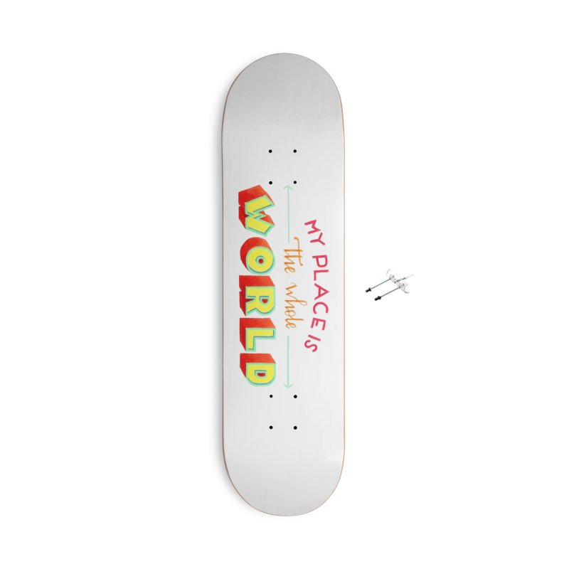 The whole world Accessories With Hanging Hardware Skateboard by Andrea Garrido V - Shop