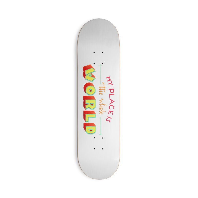The whole world Accessories Deck Only Skateboard by Andrea Garrido V - Shop