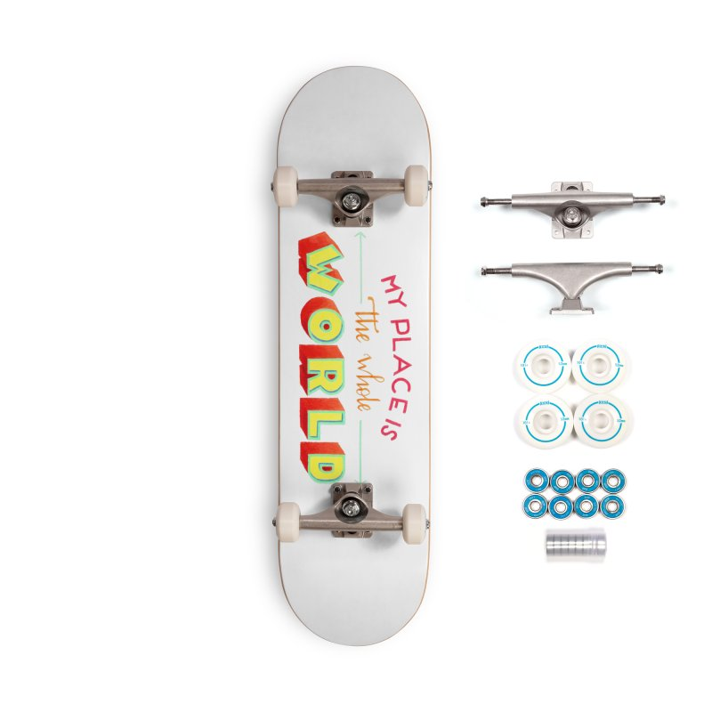 The whole world Accessories Skateboard by Andrea Garrido V - Shop