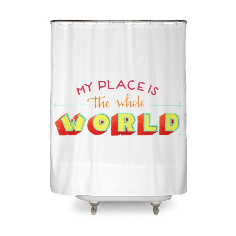 The whole world Home Shower Curtain by Andrea Garrido V - Shop