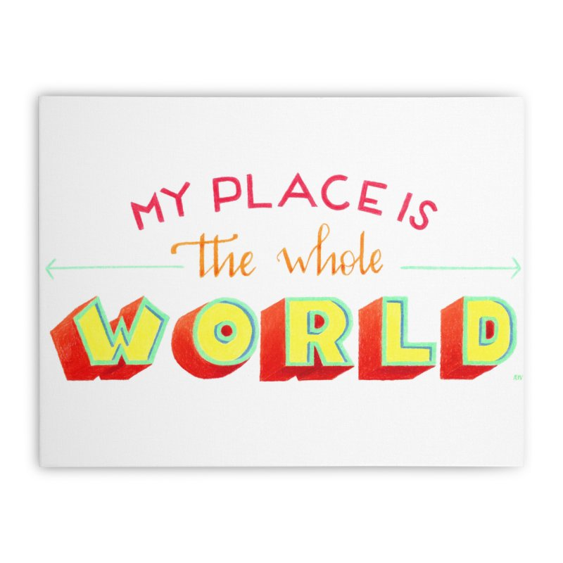 The whole world Home Stretched Canvas by Andrea Garrido V - Shop