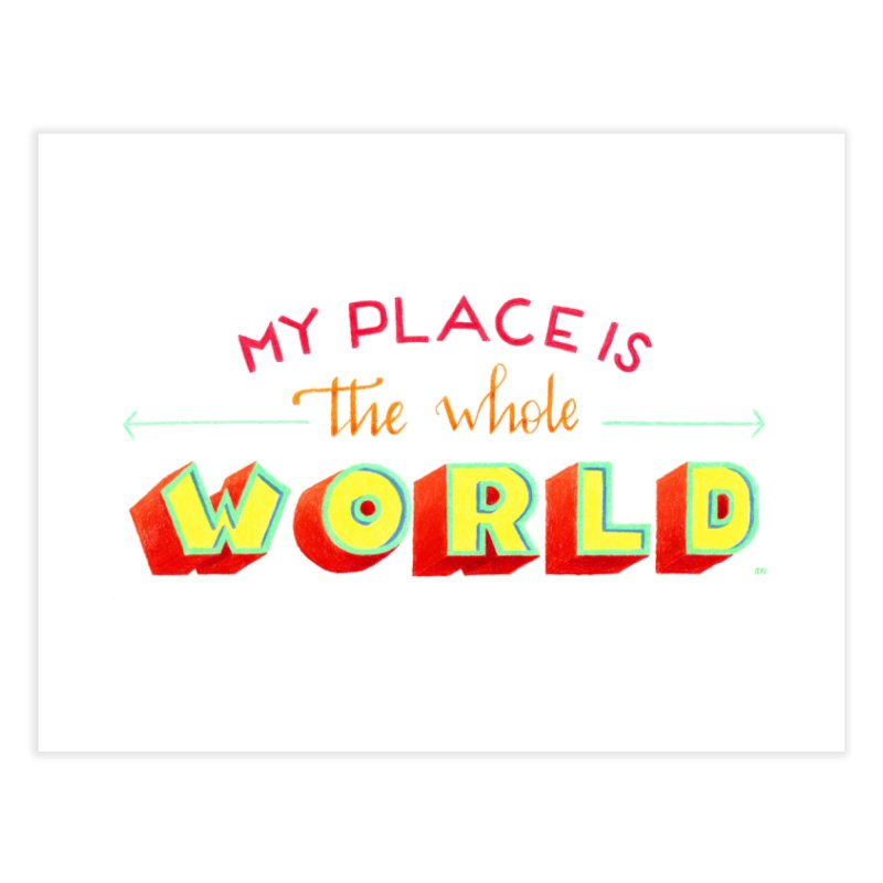 The whole world Home Fine Art Print by Andrea Garrido V - Shop