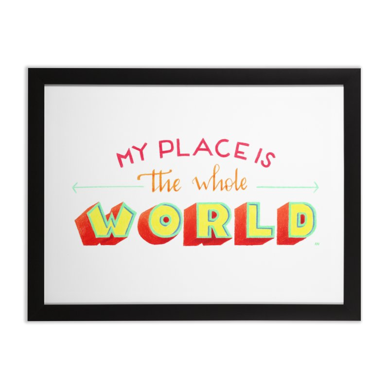 The whole world Home Framed Fine Art Print by Andrea Garrido V - Shop