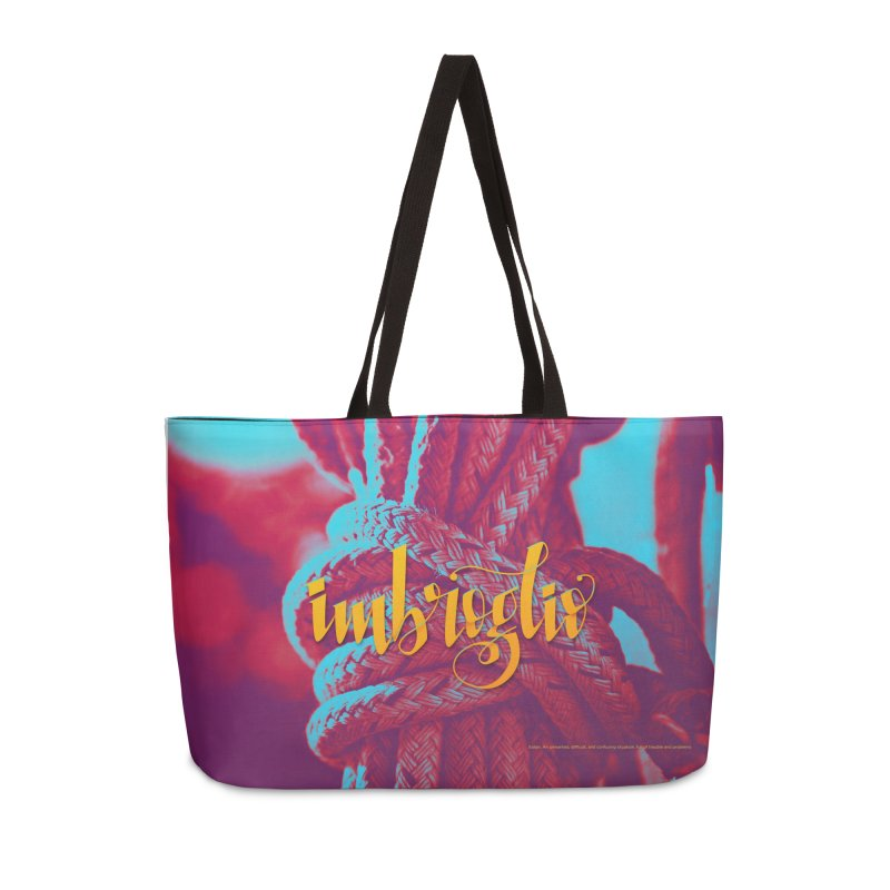 Imbroglio - beautiful words Accessories Weekender Bag Bag by Andrea Garrido V - Shop