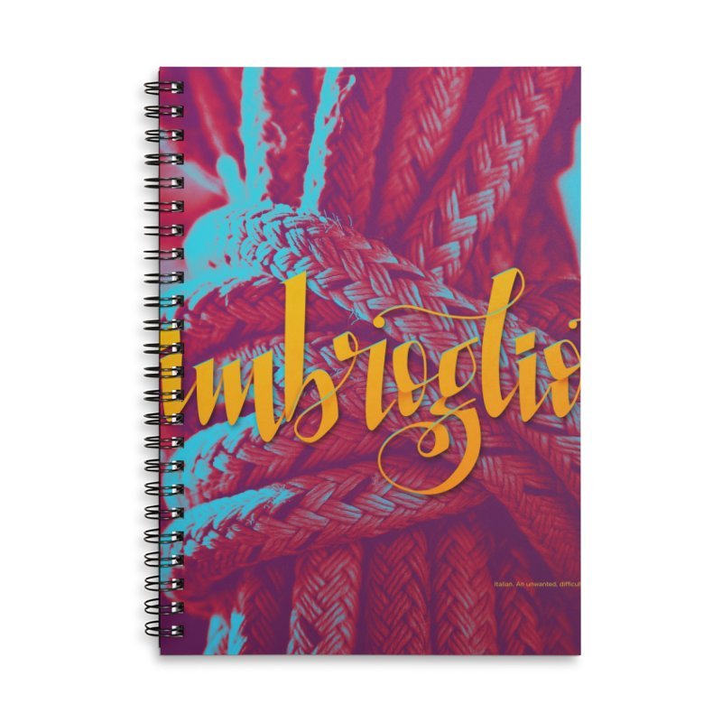 Imbroglio - beautiful words Accessories Lined Spiral Notebook by Andrea Garrido V - Shop
