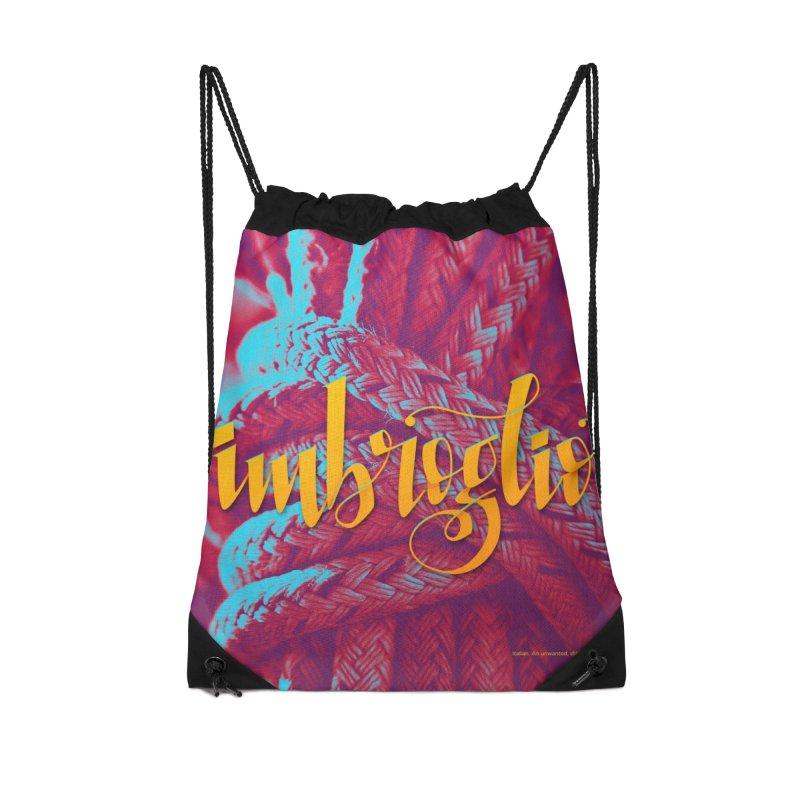 Imbroglio - beautiful words Accessories Drawstring Bag Bag by Andrea Garrido V - Shop