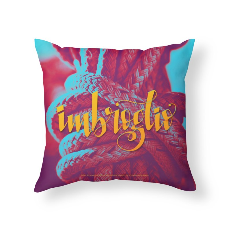 Imbroglio - beautiful words Home Throw Pillow by Andrea Garrido V - Shop