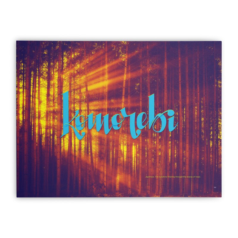 Komorebi - beautiful words Home Stretched Canvas by Andrea Garrido V - Shop
