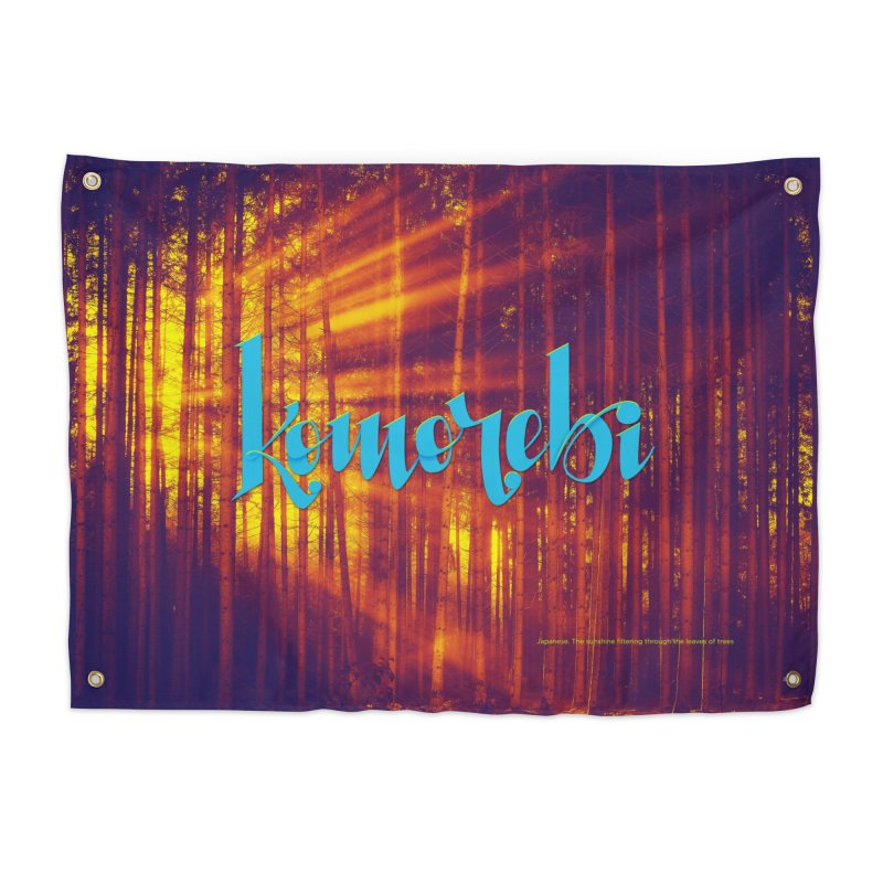 Komorebi - beautiful words Home Tapestry by Andrea Garrido V - Shop