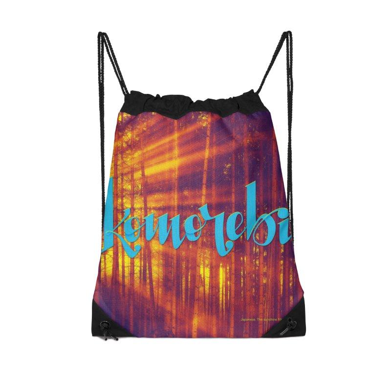 Komorebi - beautiful words Accessories Drawstring Bag Bag by Andrea Garrido V - Shop