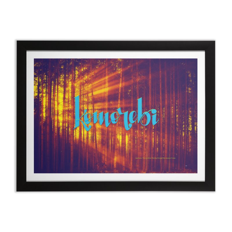 Komorebi - beautiful words Home Framed Fine Art Print by Andrea Garrido V - Shop