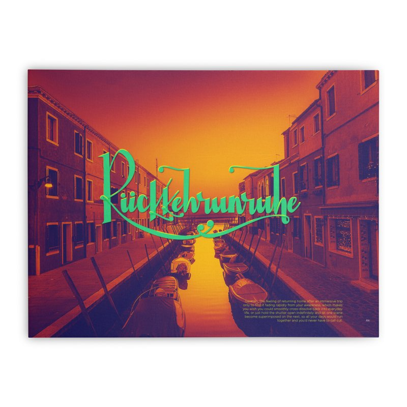 Rukkehrunruhe - travel nostalgia Home Stretched Canvas by Andrea Garrido V - Shop
