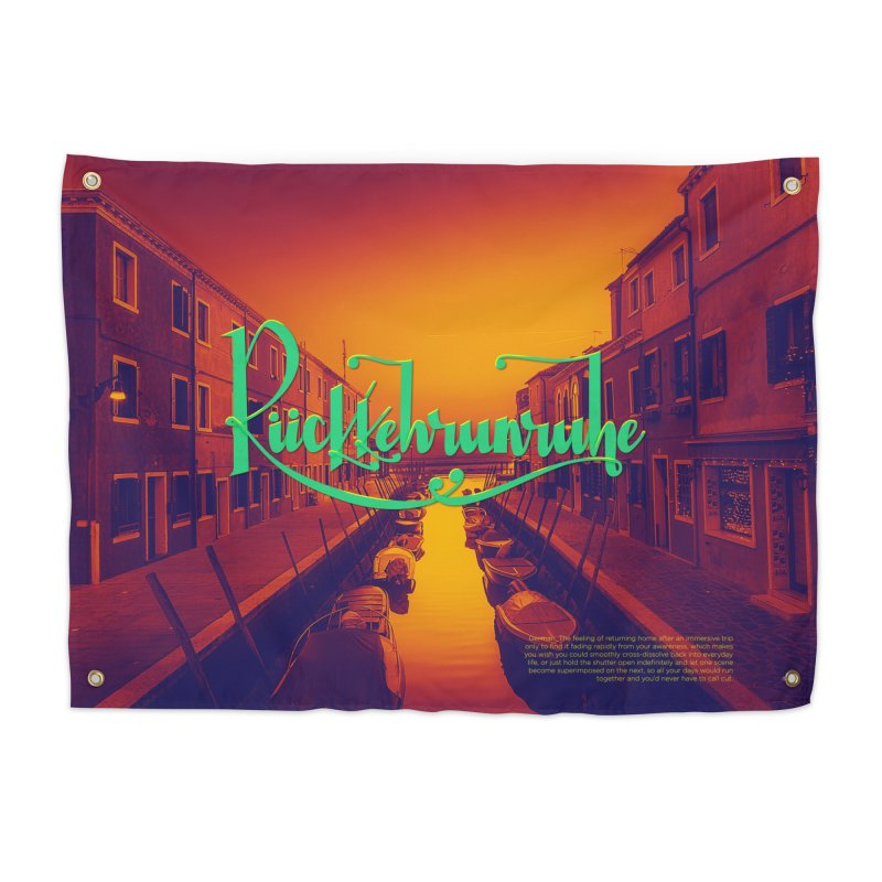 Rukkehrunruhe - travel nostalgia Home Tapestry by Andrea Garrido V - Shop