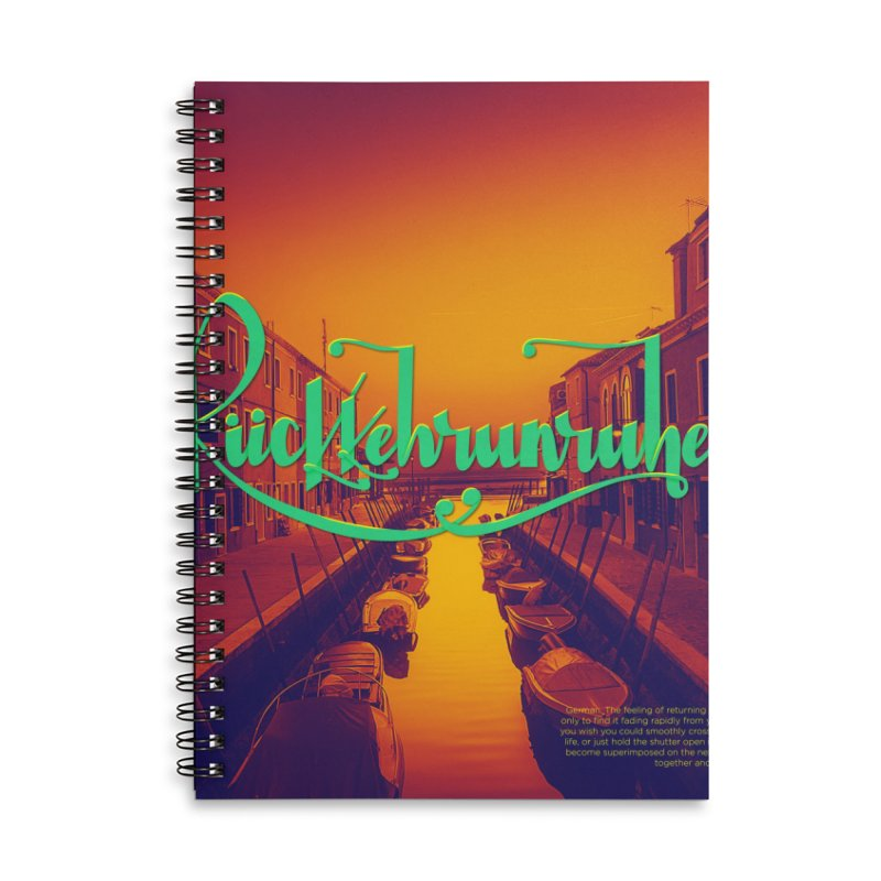 Rukkehrunruhe - travel nostalgia Accessories Lined Spiral Notebook by Andrea Garrido V - Shop