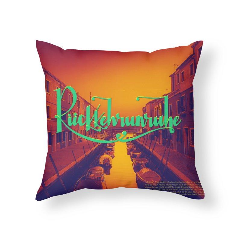 Rukkehrunruhe - travel nostalgia Home Throw Pillow by Andrea Garrido V - Shop