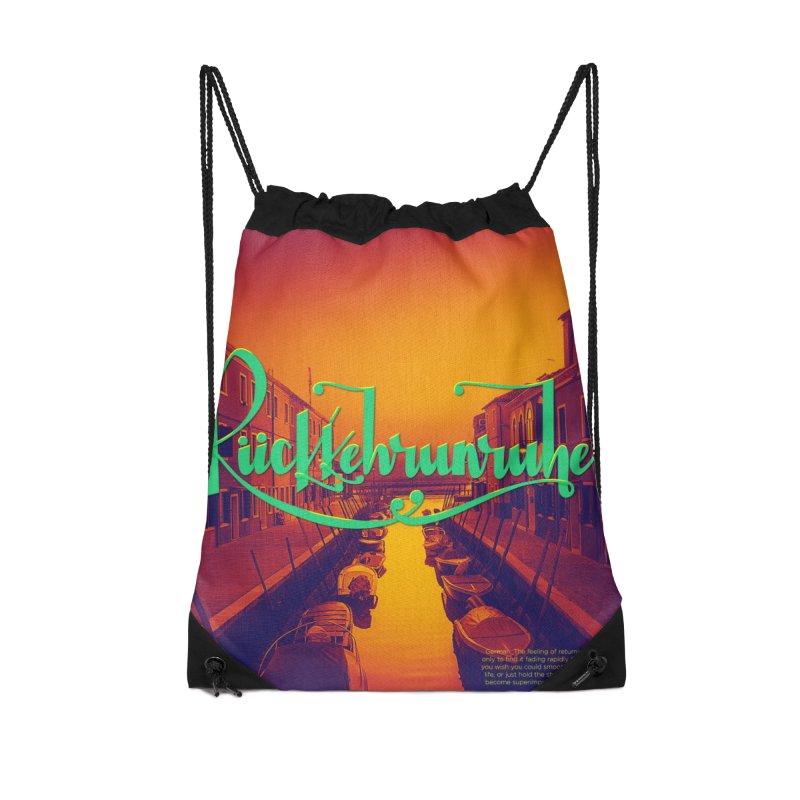 Rukkehrunruhe - travel nostalgia Accessories Drawstring Bag Bag by Andrea Garrido V - Shop
