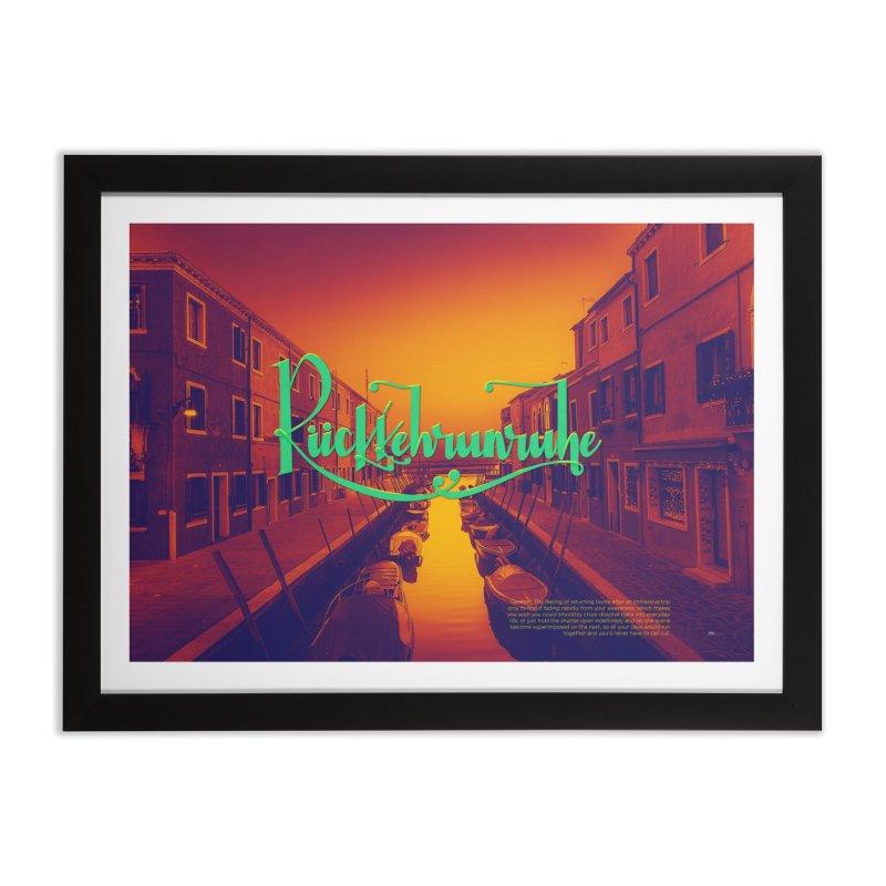 Rukkehrunruhe - travel nostalgia Home Framed Fine Art Print by Andrea Garrido V - Shop