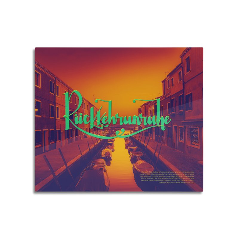 Rukkehrunruhe - travel nostalgia Home Mounted Aluminum Print by Andrea Garrido V - Shop