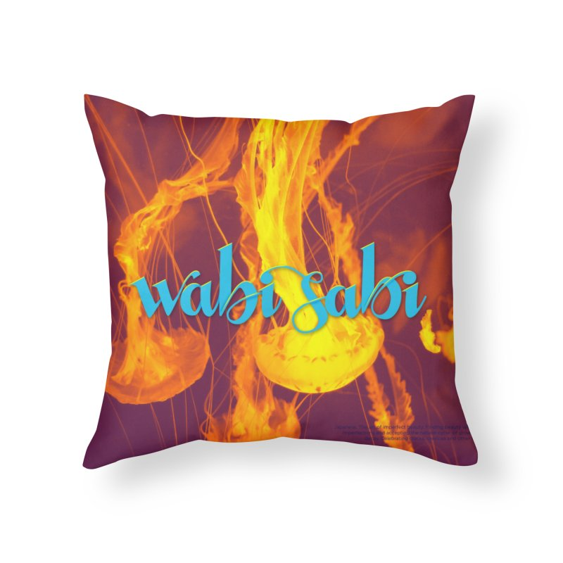 wabi sabi - beautiful words Home Throw Pillow by Andrea Garrido V - Shop