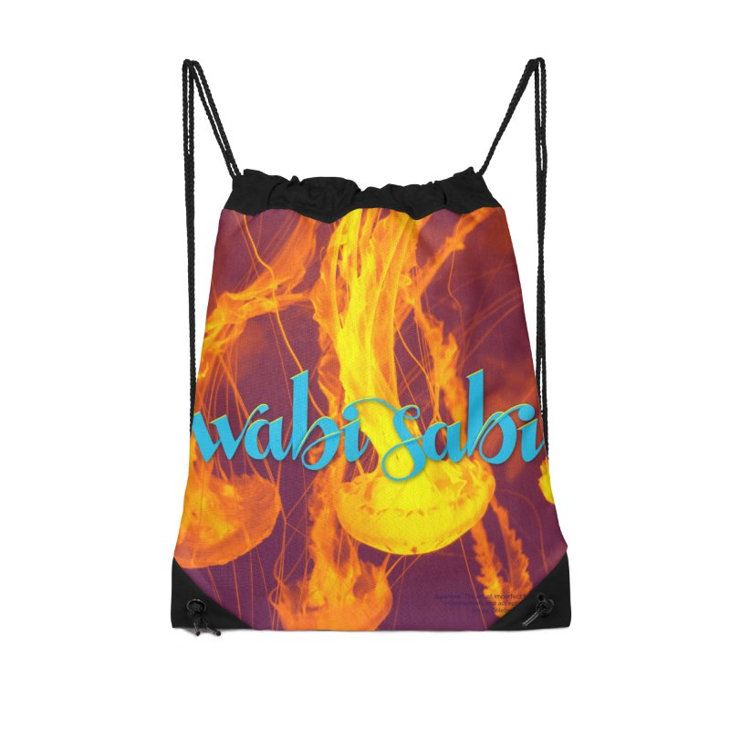 wabi sabi - beautiful words Accessories Drawstring Bag Bag by Andrea Garrido V - Shop