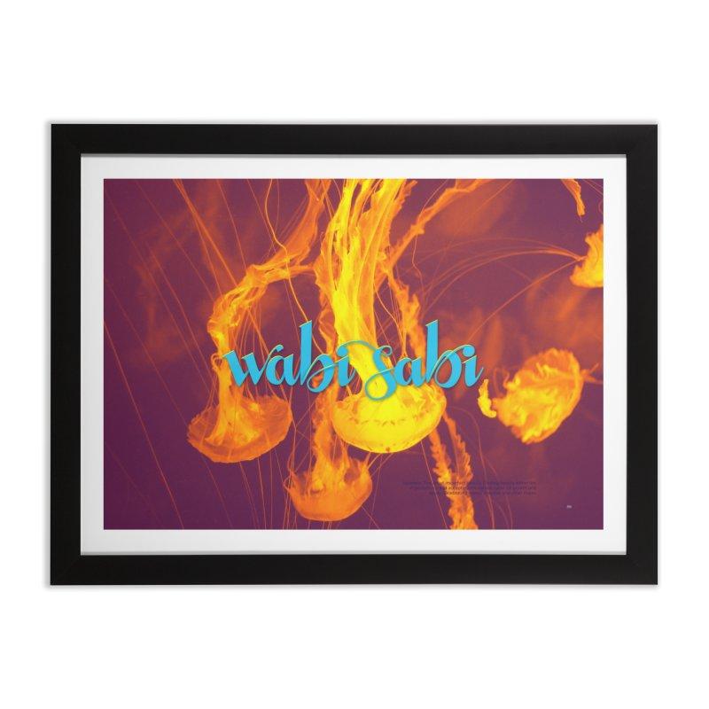 wabi sabi - beautiful words Home Framed Fine Art Print by Andrea Garrido V - Shop