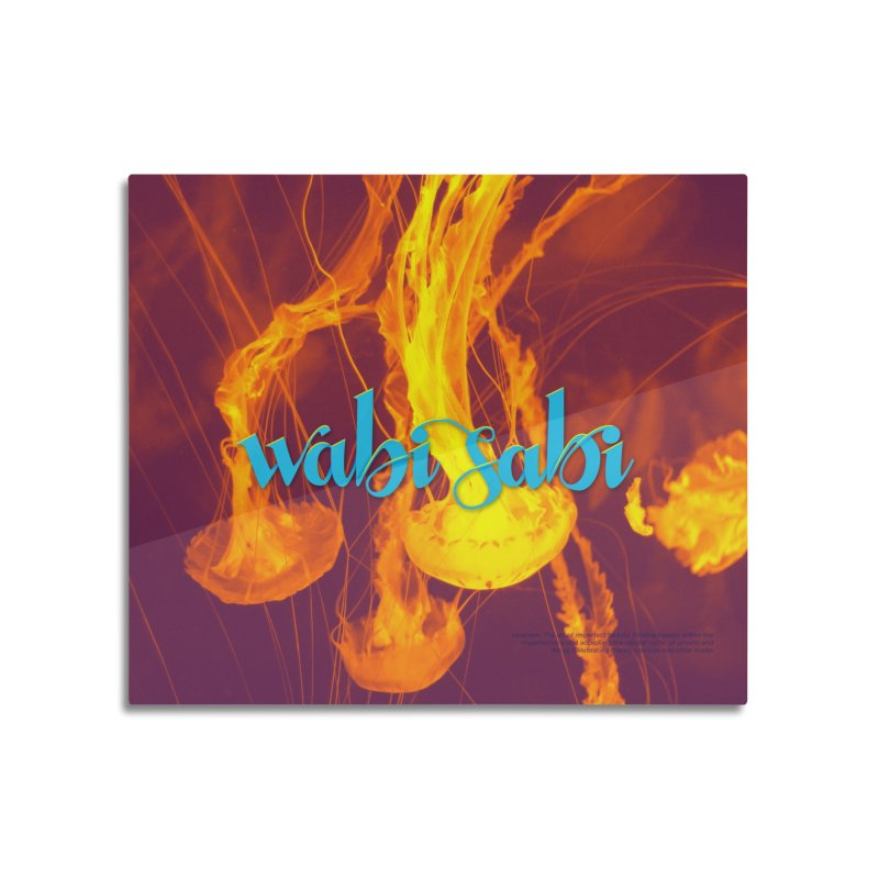 wabi sabi - beautiful words Home Mounted Aluminum Print by Andrea Garrido V - Shop