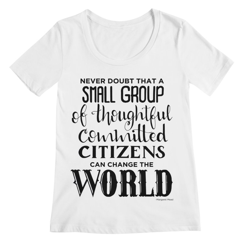 Change the world Women's Regular Scoop Neck by Andrea Garrido V - Shop