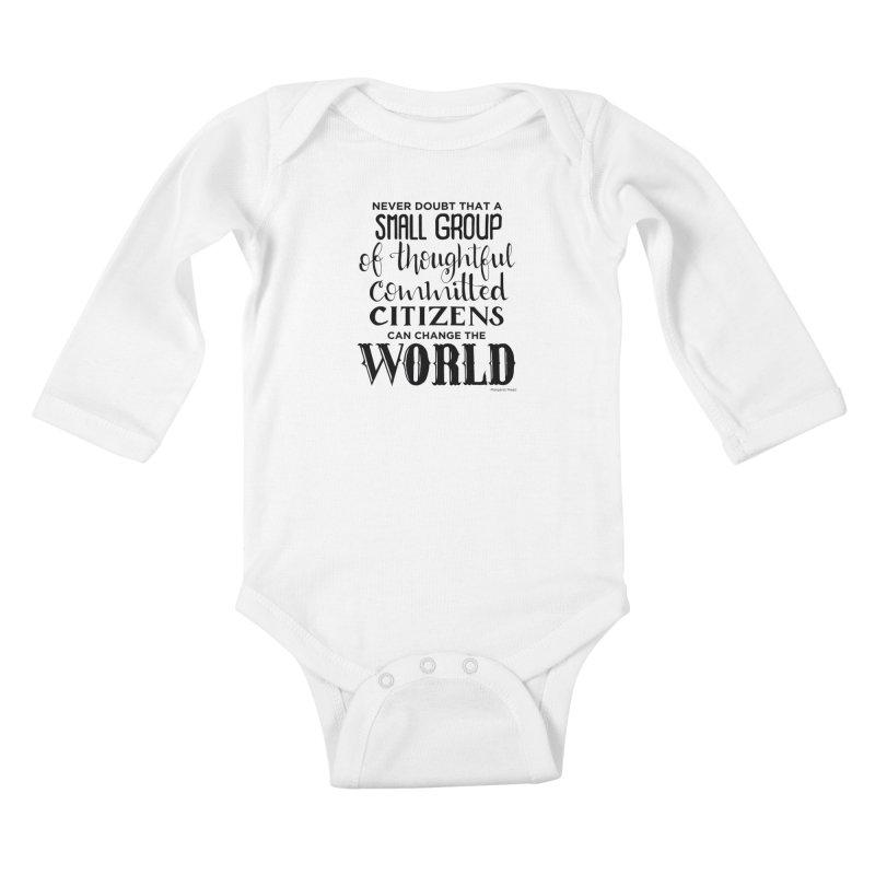 Change the world Kids Baby Longsleeve Bodysuit by Andrea Garrido V - Shop
