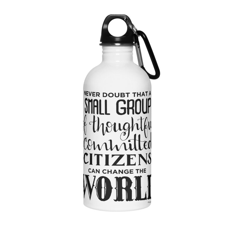 Change the world Accessories Water Bottle by Andrea Garrido V - Shop