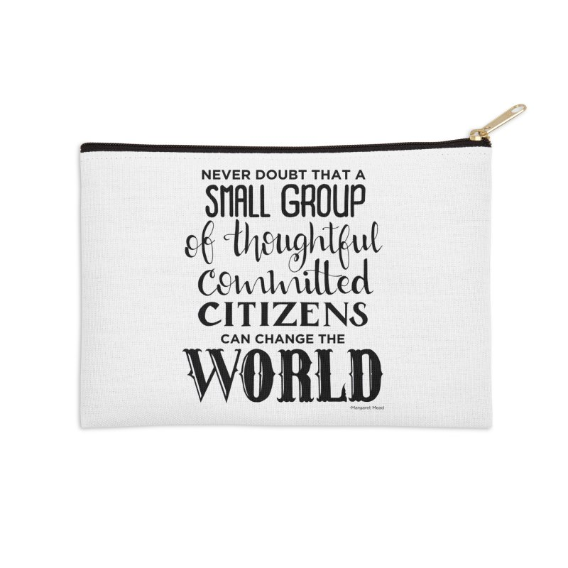 Change the world Accessories Zip Pouch by Andrea Garrido V - Shop