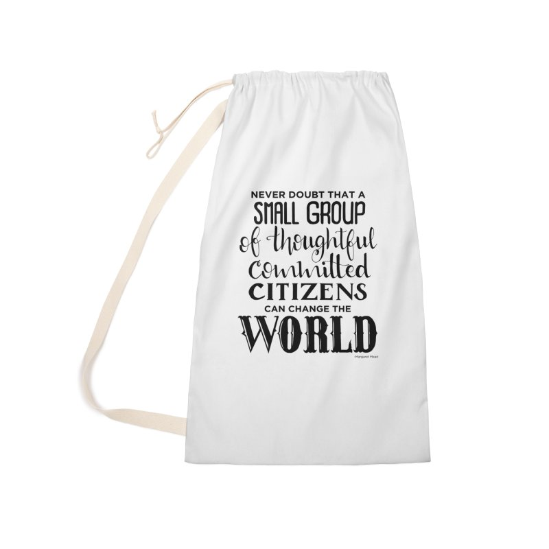 Change the world Accessories Laundry Bag Bag by Andrea Garrido V - Shop