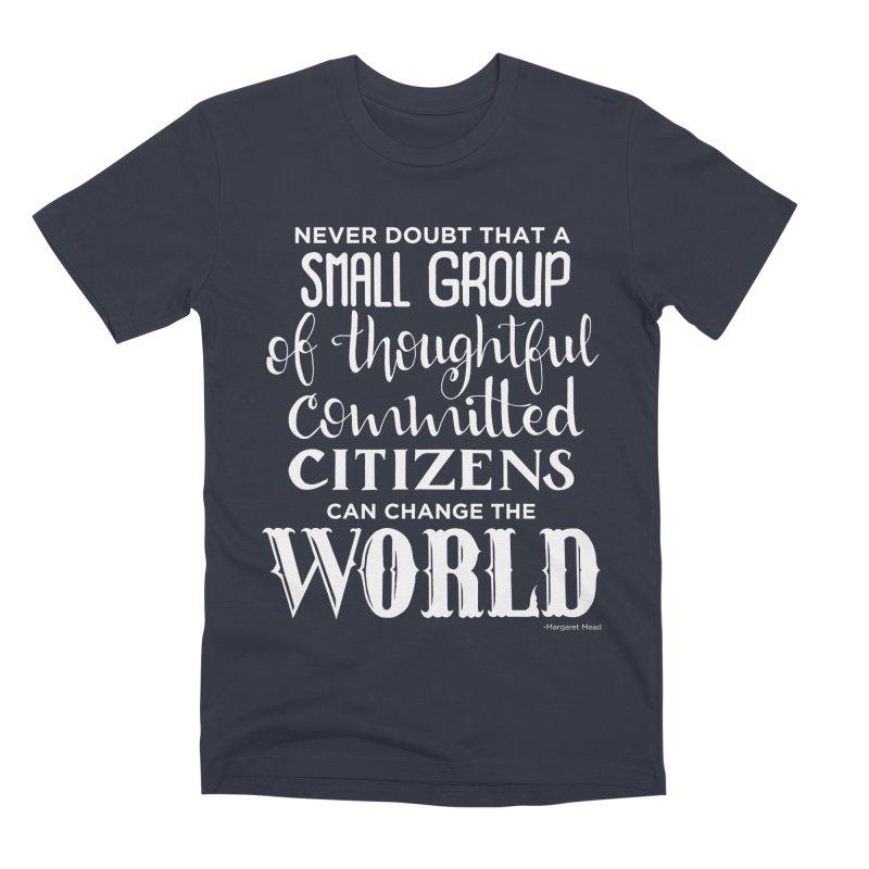 Change the world - white version Men's Premium T-Shirt by Andrea Garrido V - Shop