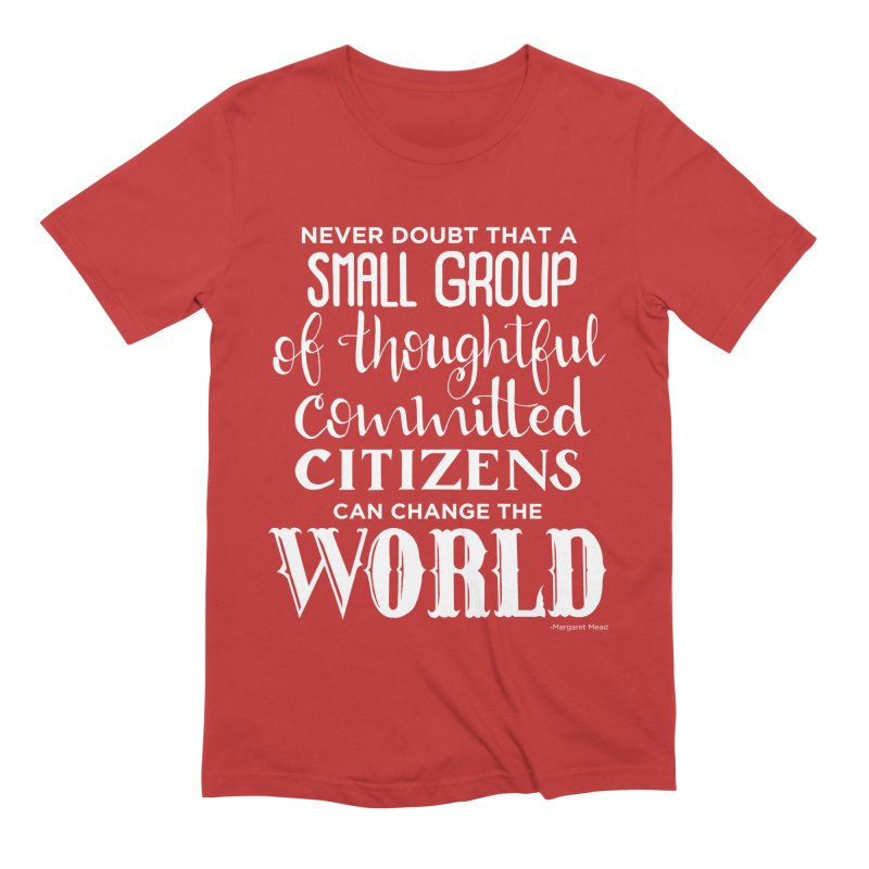 Change the world - white version Men's Extra Soft T-Shirt by Andrea Garrido V - Shop