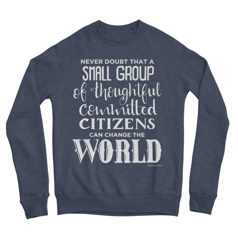 Change the world - white version Men's Sponge Fleece Sweatshirt by Andrea Garrido V - Shop