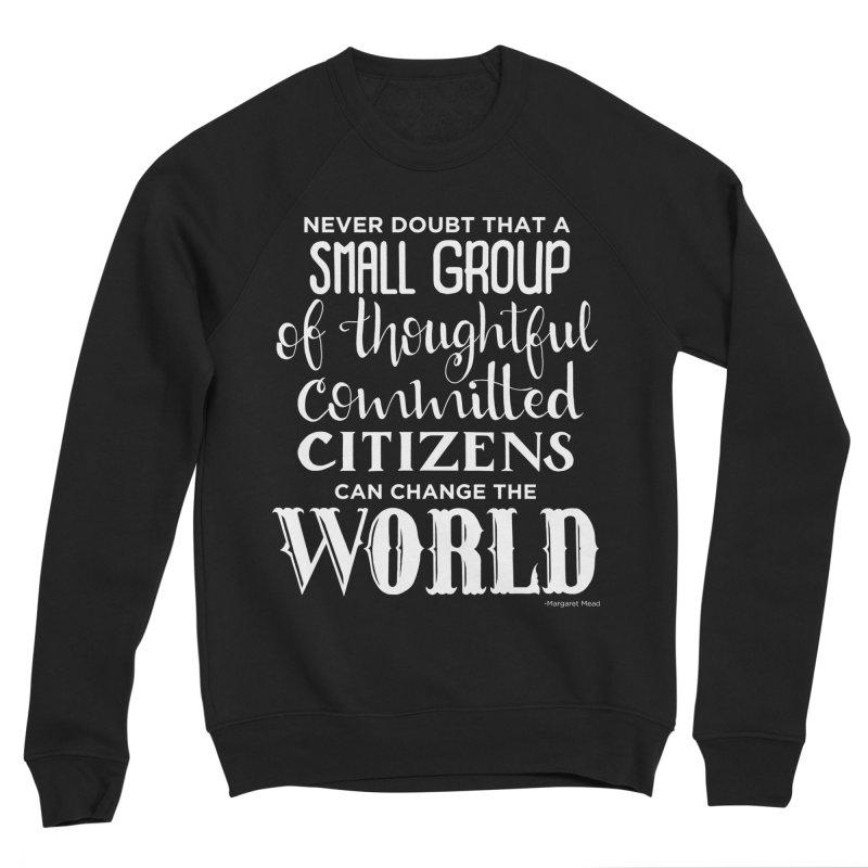 Change the world - white version Women's Sponge Fleece Sweatshirt by Andrea Garrido V - Shop