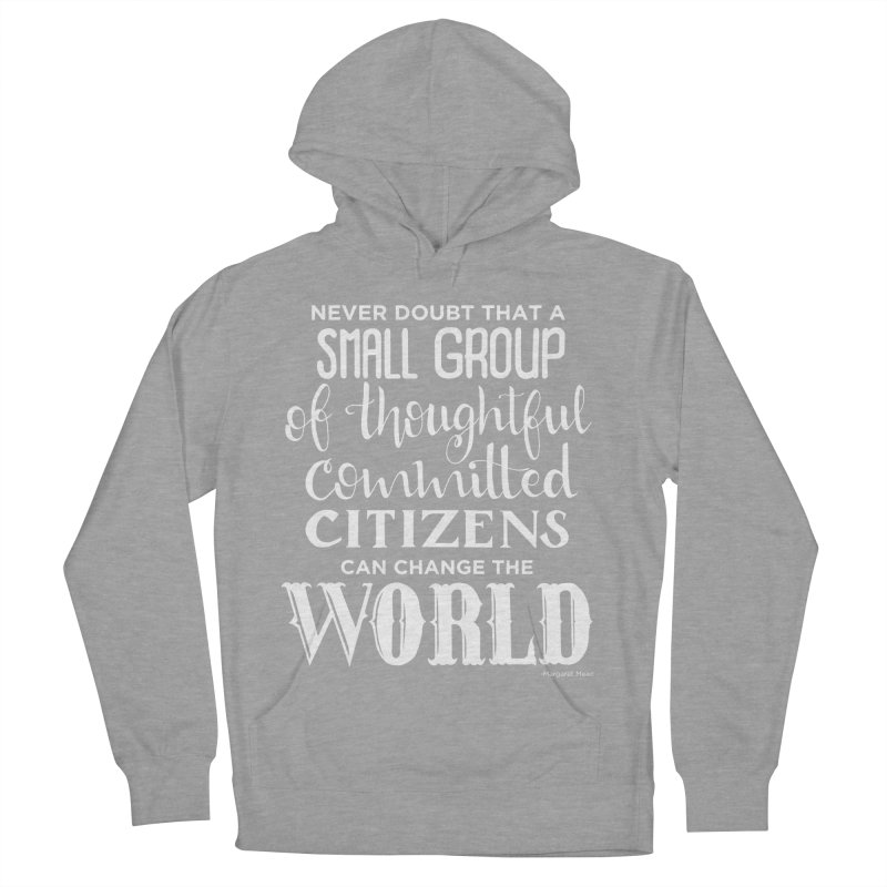 Change the world - white version Women's French Terry Pullover Hoody by Andrea Garrido V - Shop