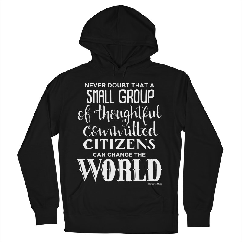 Change the world - white version Men's French Terry Pullover Hoody by Andrea Garrido V - Shop