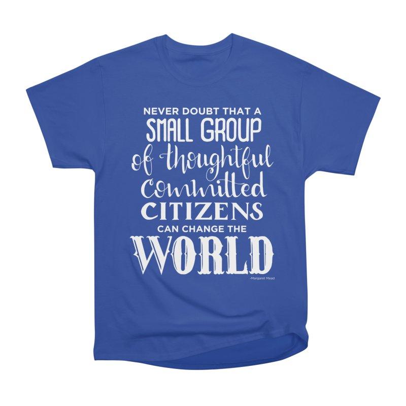 Change the world - white version Women's Heavyweight Unisex T-Shirt by Andrea Garrido V - Shop