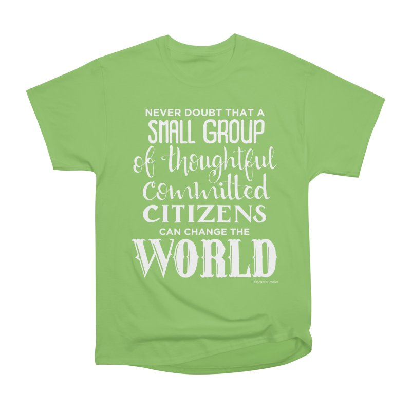 Change the world - white version Men's Heavyweight T-Shirt by Andrea Garrido V - Shop