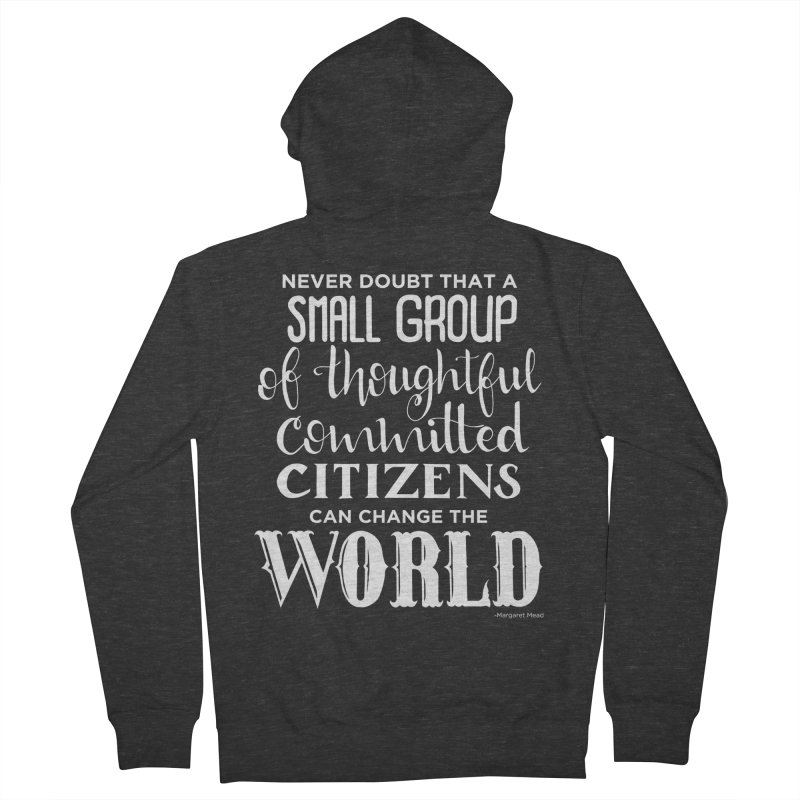 Change the world - white version Women's French Terry Zip-Up Hoody by Andrea Garrido V - Shop