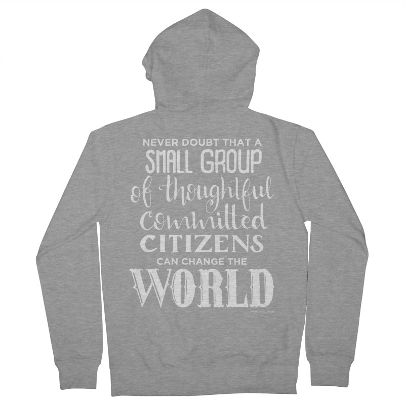 Change the world - white version Men's French Terry Zip-Up Hoody by Andrea Garrido V - Shop