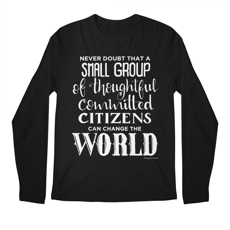 Change the world - white version Men's Regular Longsleeve T-Shirt by Andrea Garrido V - Shop