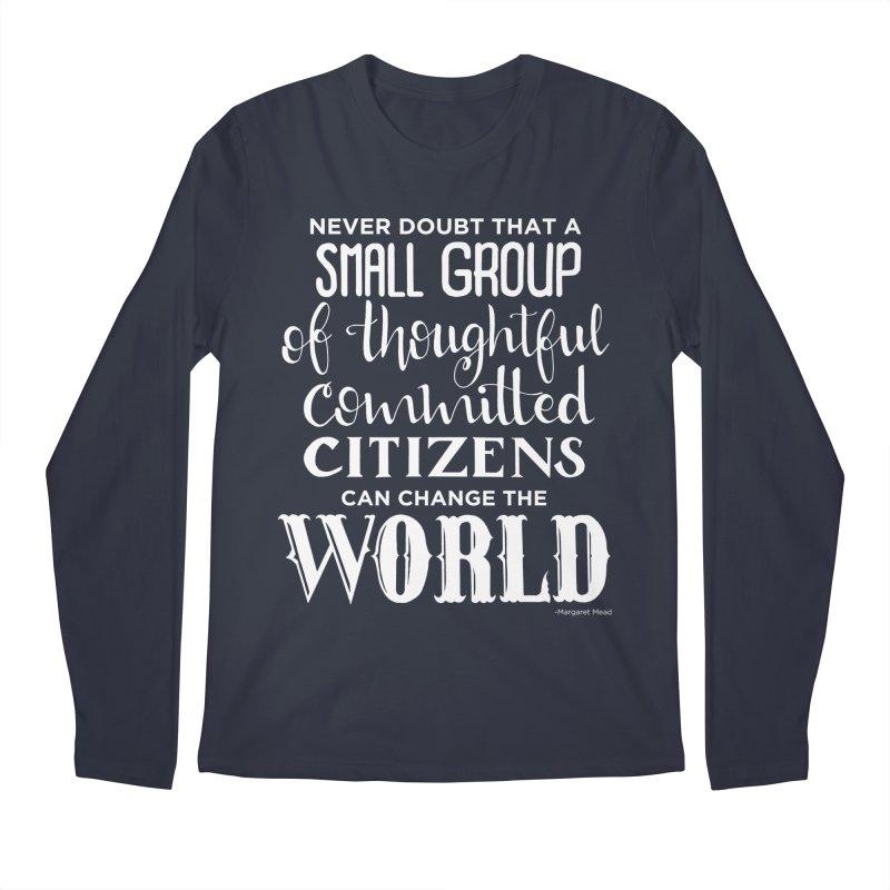 Change the world - white version Men's Regular Longsleeve T-Shirt by Andrea Garrido V - Shop