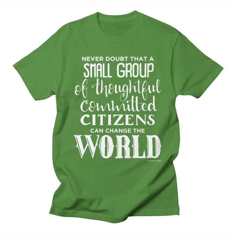 Change the world - white version Men's Regular T-Shirt by Andrea Garrido V - Shop