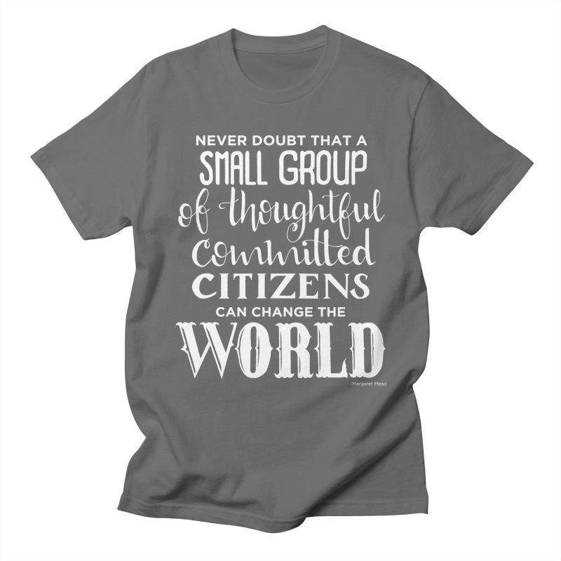 Change the world - white version Men's T-Shirt by Andrea Garrido V - Shop